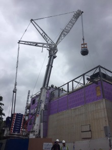 Cyclotron craned in Manchester